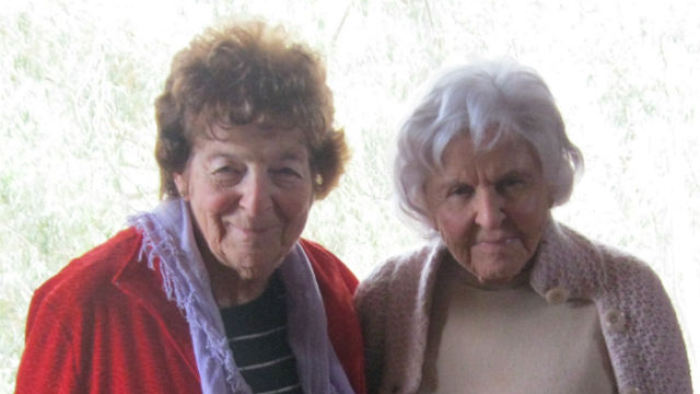 Deborah Szekely (right) and Vivian Blackstone. Photo by Mimi Pollack