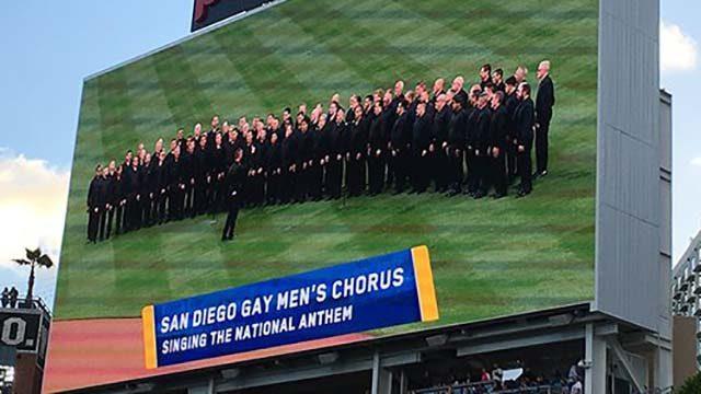 San Diego Gay Men's Chrous at Petco Park. Photo via Twitter
