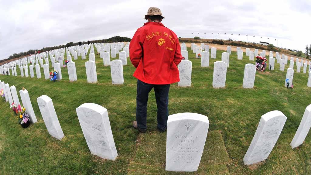 Veteran at Miramar National Cemetery