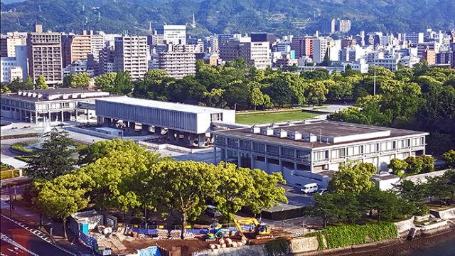 Hiroshima Peace Memorial Park and museum. Photo by Joe Nalven