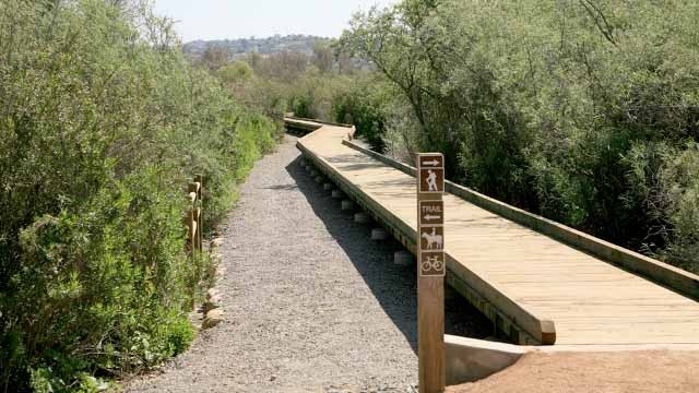 Part of trail system at Tijuana River Valley Regional Park.