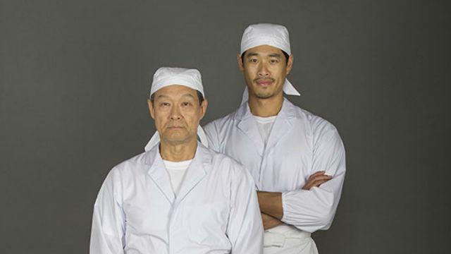"James Saito (left) as Koji and Tim Chiou as Takashi in ""Tokyo Fish Story.""  Photo by Jim Cox"