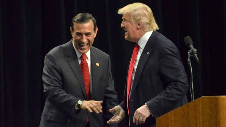 Darrell Issa and Donald Trump