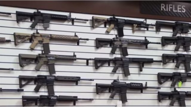 Rifles for sale at the Poway Weapons & Gear Range. Image from company video