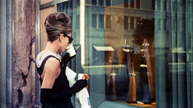 """Audrey Hepburn in """"Breakfast at Tiffany's."""" Image from movie trailer"""