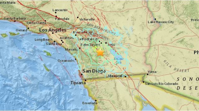 Strong 5.2 Magnitude Earthquake Shakes San Diego County Overnight