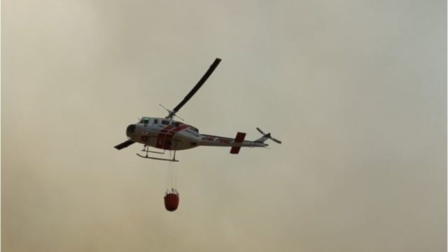 Cal Fire Helicopter in Temecula. Photo Credit: Cal Fire