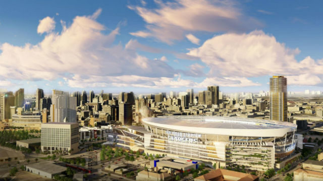 Chargers' stadium rendering for downtown.