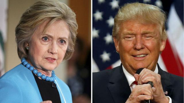 Hillary Clinton and Donald Trump. REUTERS / File Photos