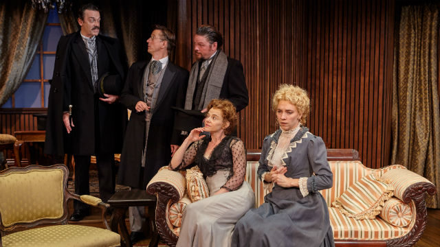 "A scene from ""Hedda Gabler"" at the North Coast Repertory Theatre."
