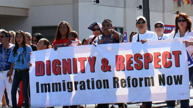 A march in support of immigration reform. Photo courtesy Alliance San Diego