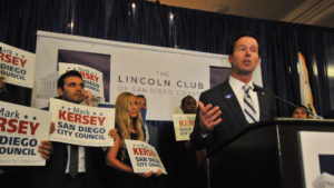Councilman Mark Kersey with supporters on election night. Photo by Chris Stone