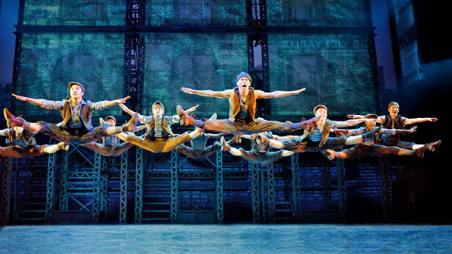 """A scene from """"Newsies"""" at the Civic Theatre."""