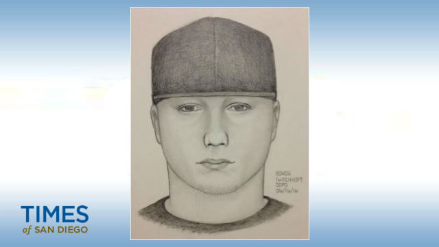 A police sketch of the suspect in the North Park assault.