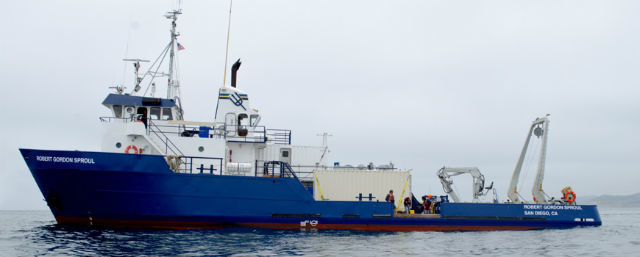 The research vessel Robert Gordon Sproul.
