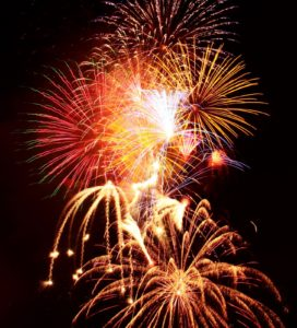 The rockets' red glare at Santee Salutes in 2012. Courtesy City of Santee