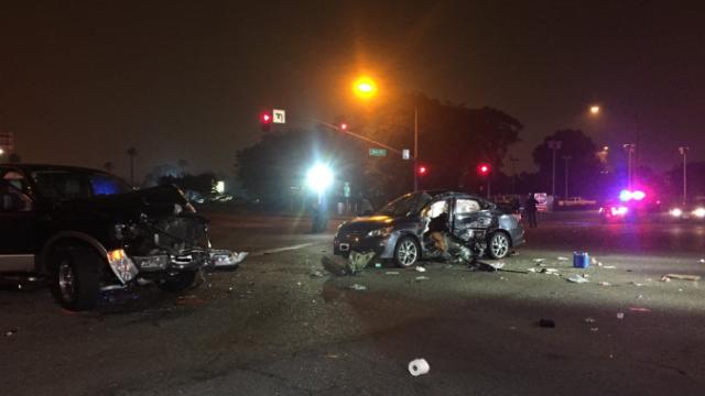 Escondido collision. Photo Credit: Twitter of Escondido Police