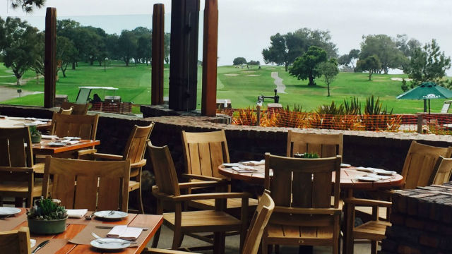 The view from The Grill at the Lodge at Torrey Pines.