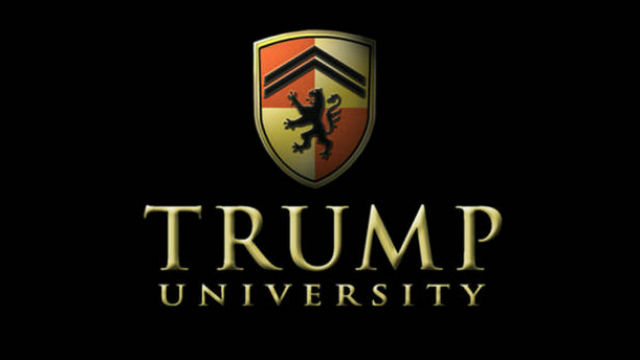 Logo of the now-defunct Trump University.
