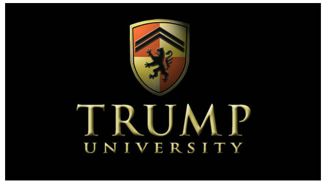 Logo of the now-defunct Trump University.