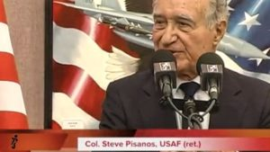 Retired U.S. Air Force Col. Col. Steve N. Pisanos in 2013. Photo via YouTube.com