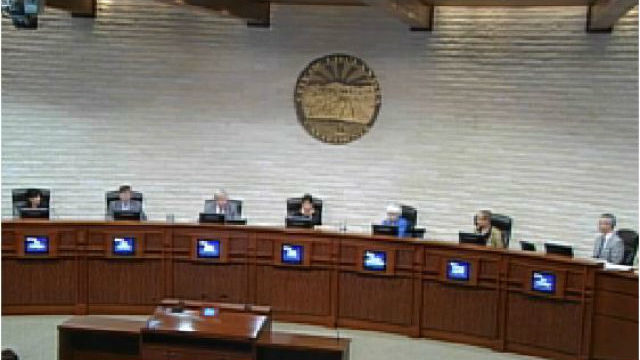 Mayor Mary Salas and the Chula Vista City Council at the July 12 meeting. Image from video