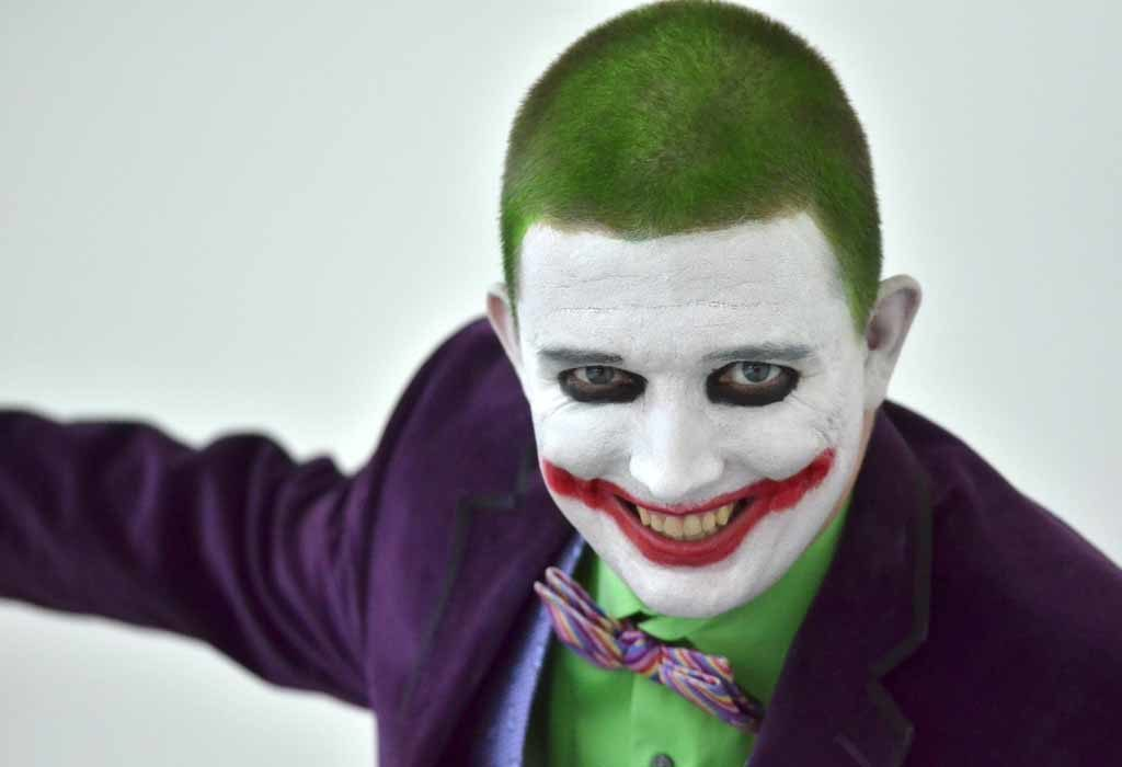 """Conor Ford of Falls Church, Virginia plays the Joker from """"Batman"""" at Comic-Con. Photo by Chris Stone"""