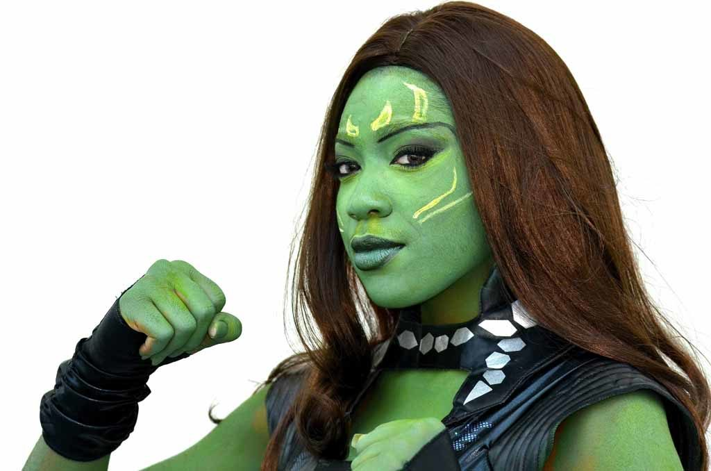 """Tamika Preston of Michigan dresses as Gamora from the """"Guardians of the Galaxy."""" Photo by Chris Stone"""