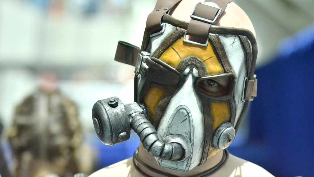 """Damian Lance of San Francisco portrays Krieg from """"Borderlands 2."""" Photo by Chris Stone"""