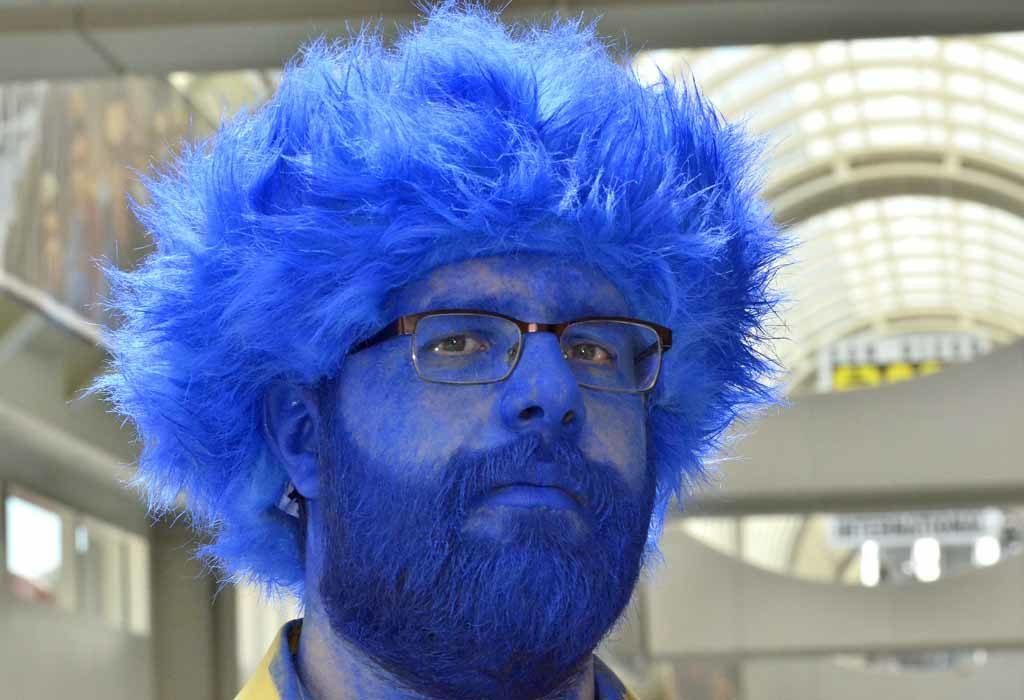"Alex Haroof Las Vegas plays Beast from ""X-Men."" Photo by Chris Stone"