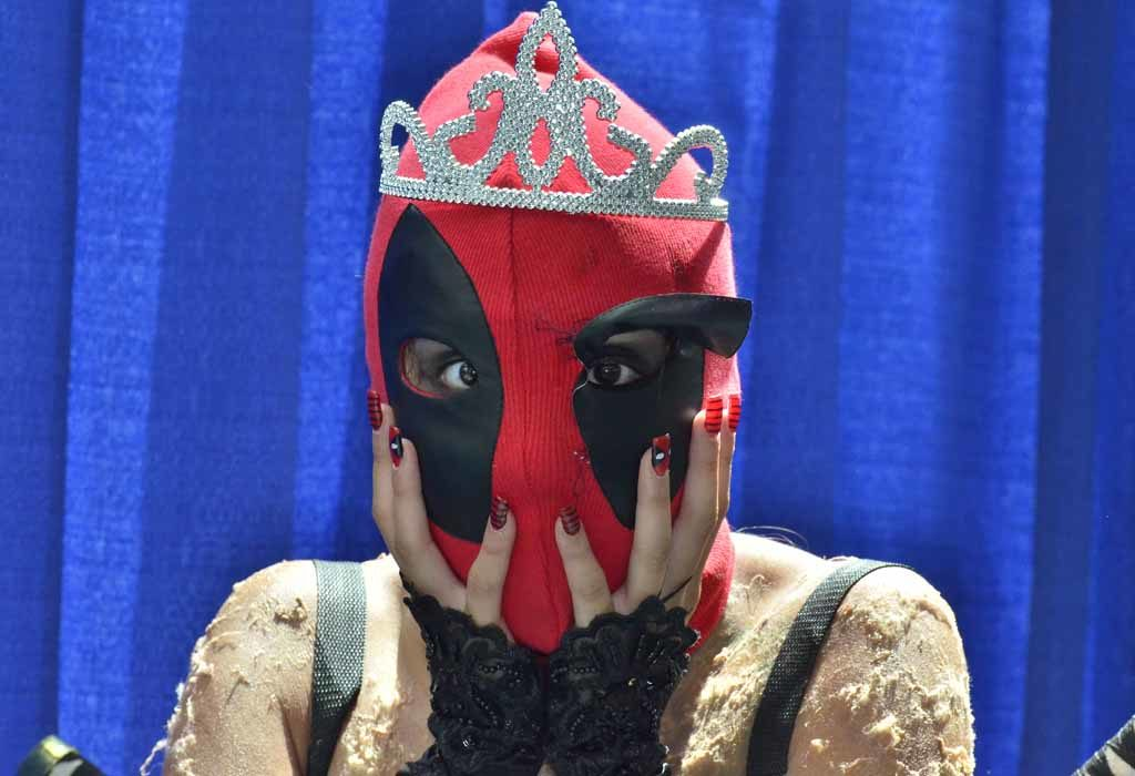 Isabel Cervantes of South San Francisco dresses as Princess Deadpool. Photo by Chris Stone