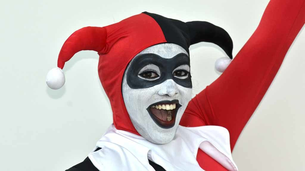 """Steffie Solomon of Michigan plays a Harley Quinn from """"Gotham Girls."""" Photo by Chris Stone"""