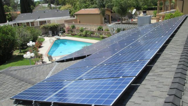 Solar panels on the rooftop of a home in Southern California. Courtesy LA Solar Group