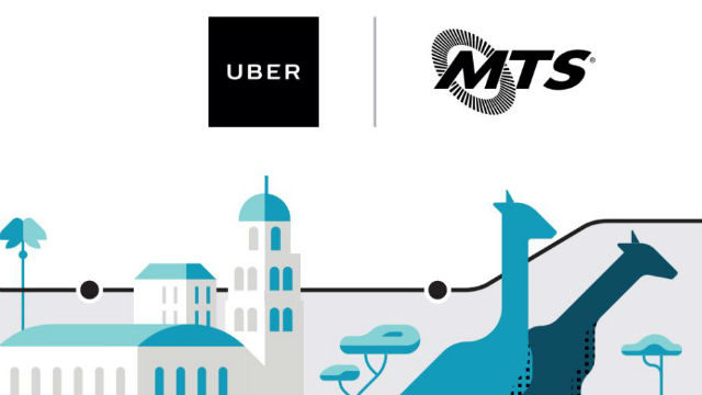 Uber and MTS are jointly marketing the new service.