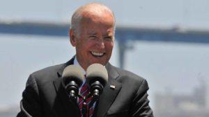 Joe Biden speaks at the Port of San Diego
