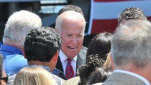 Vice President Joe Biden speaks at the Port of San Diego. Photo by Chris Stone