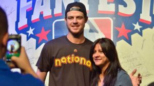 Wil Myers posed for pictures at All-Star Game FanFest at the San Diego Convention Center. Photo by Chris Stone