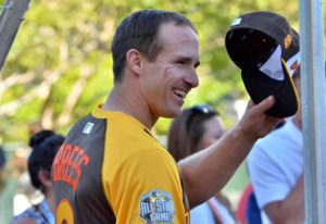 Former Chargers quarterback Drew Brees heard the most cheers at Petco Park. Photo by Chris Stone