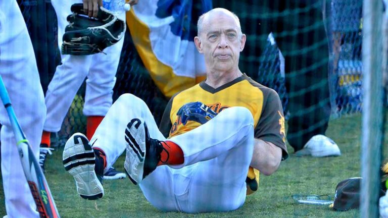 "J.K. Simmons, Oscar winner for ""Whiplash,"" said he had a good warmup to avoid injury. Photo by Chris Stone"
