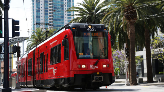 San Diego Trolley Downtown
