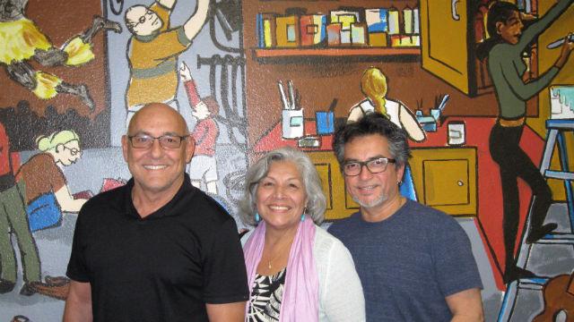 Amigos del Rep's John Padilla, Sylvia Enrique, and Dave Rivas. Photo by Mimi Pollock