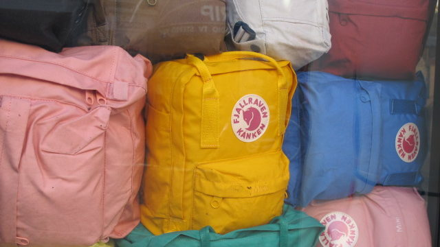 Backpacks like these. Photo Credit: Lisa Risager on Wikimedia Commons