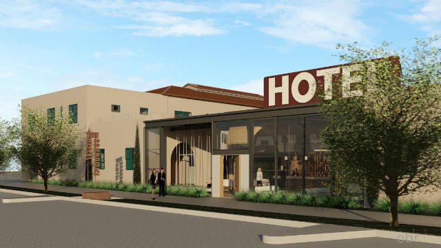 A digital rendering of the historic barracks hotel that will be built in Point Loma. Photo Credit: obrARCHITECTURE