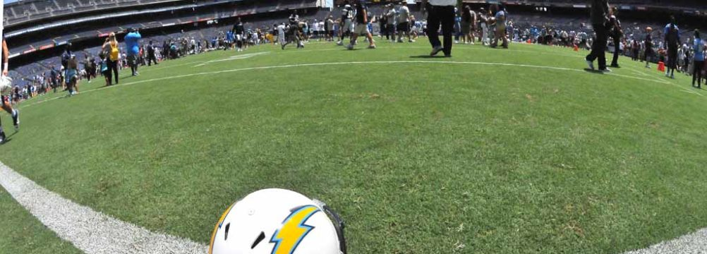 Thousands went to Qualcomm Stadium to see the Chargers in action. Photo by Chris Stone