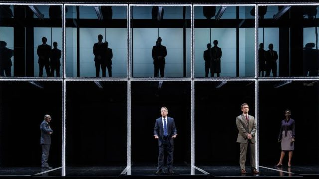 """A scene from """"Junk: The Golden Age of Debt"""" at the La Jolla Playhouse."""