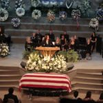 Kamala Harris speaks at a memorial for a fallen San Diego Police officer