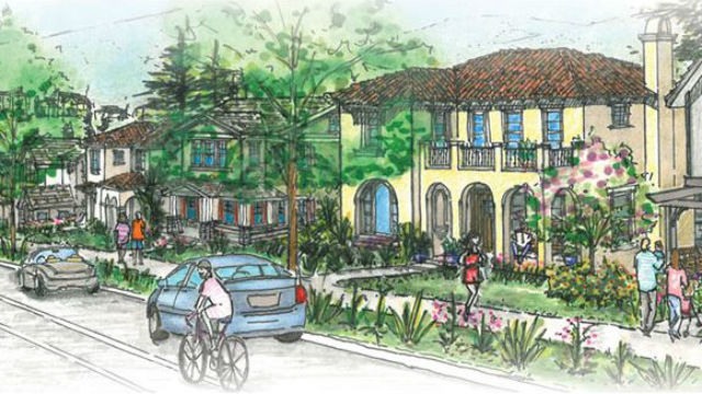 Artist's rendering of homes in Lilac Hills Ranch.