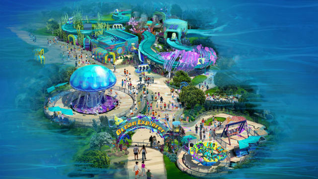 An aerial rendering of the Ocean Explorer attraction. Courtesy SeaWorld San Diego