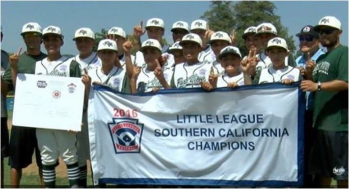 The championship Park View Little League team. Courtesy of the team
