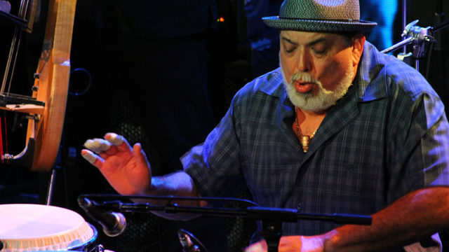 Jazz and soul artist Poncho Sanchez. Photo by Jeff Dunn via Wikimedia Commons
